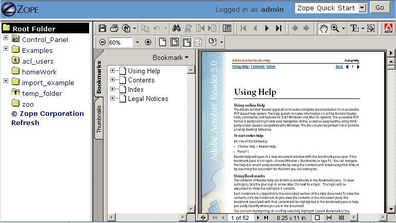 7  Using Basic Zope Objects — Zope documentation 4 1